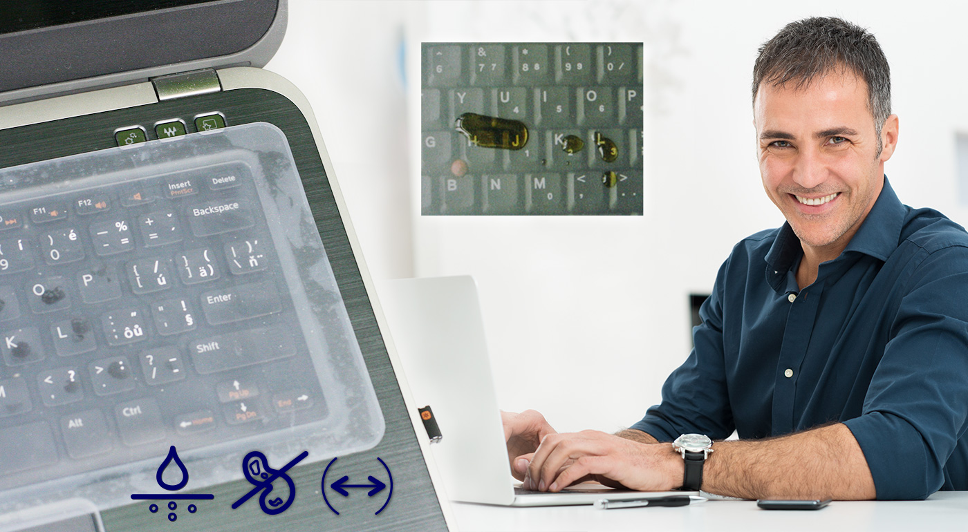 Praktická silikónová fólia na klávesnicu notebooku v troch veľkostiach - tri kusy v balení