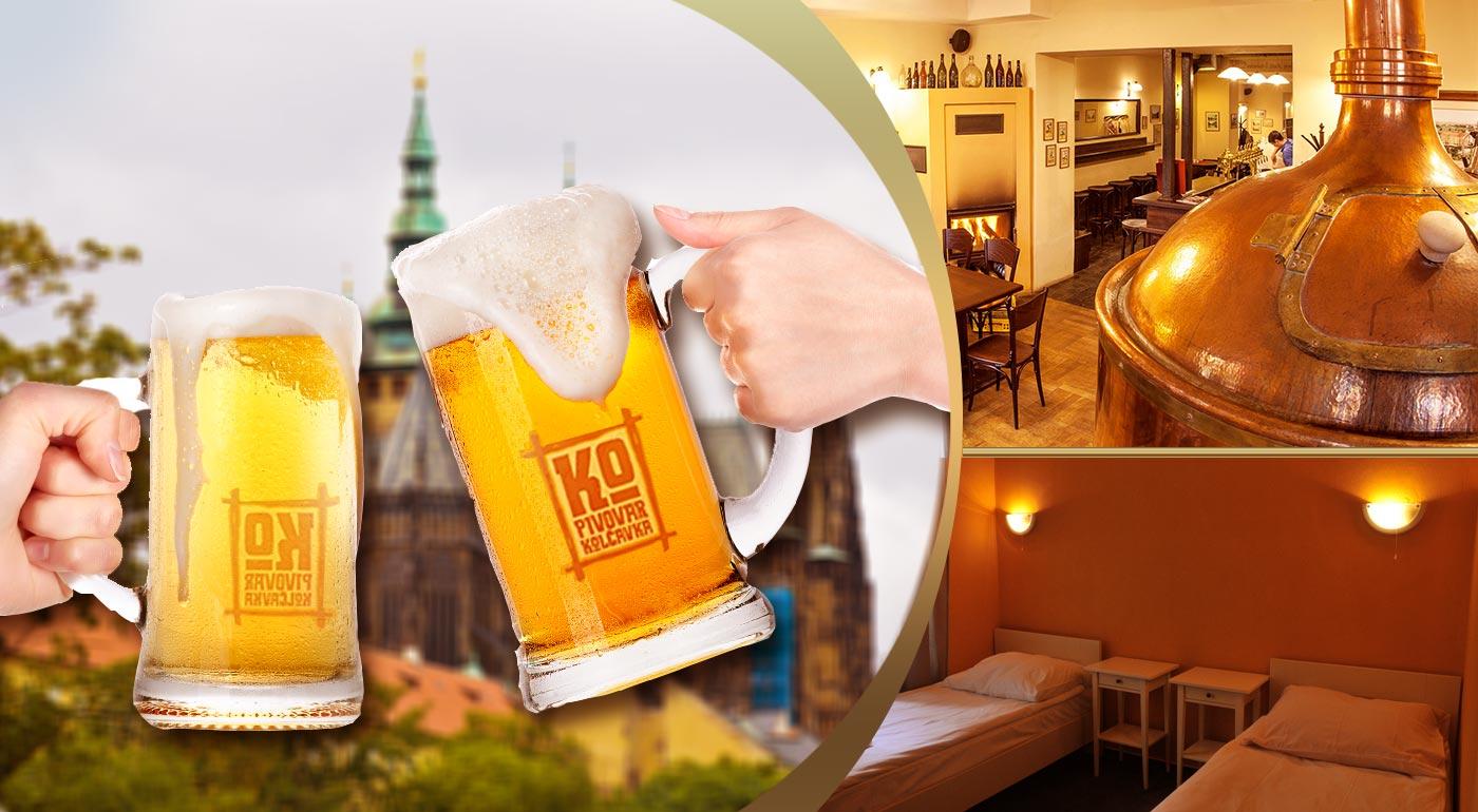 Pivkári POZOR! Pobyt s degustáciou remeselných pív v minipivovare v stovežatej Prahe!