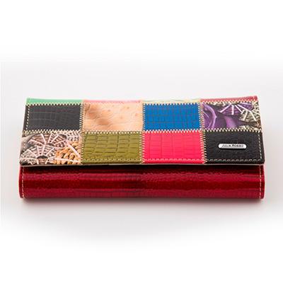 Dámska luxusná peňaženka JULIA ROSSO vzorovaná - červená
