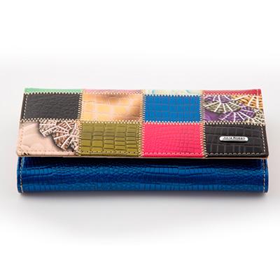 Dámska luxusná peňaženka JULIA ROSSO vzorovaná - modrá