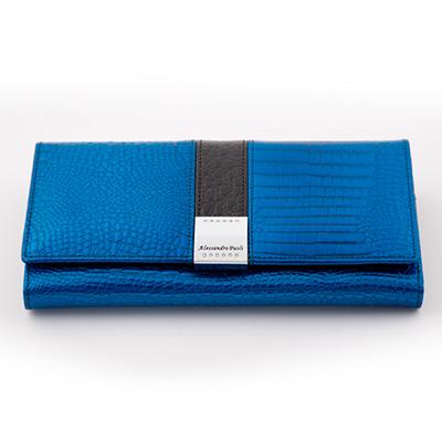 Dámska luxusná peňaženka ALESSADRO PAOLI - modrá