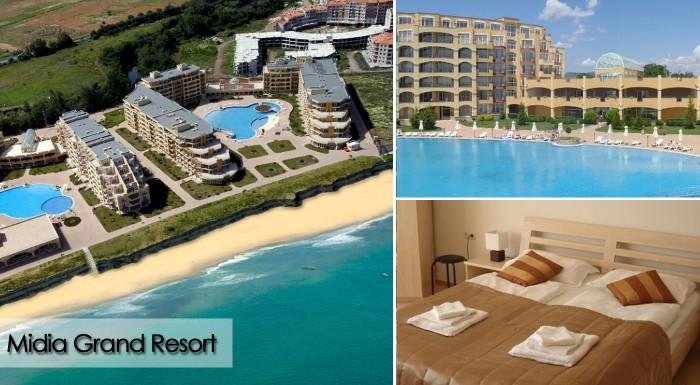 Fotka zľavy: Oddych pri mori na krásnych pieskových plážach v plne vybavenom apartmáne Midia Grand Resort**** v Bulharsku pri Čiernom mori len za 249 € môže začať. Na výber aj termíny v top sezóne!