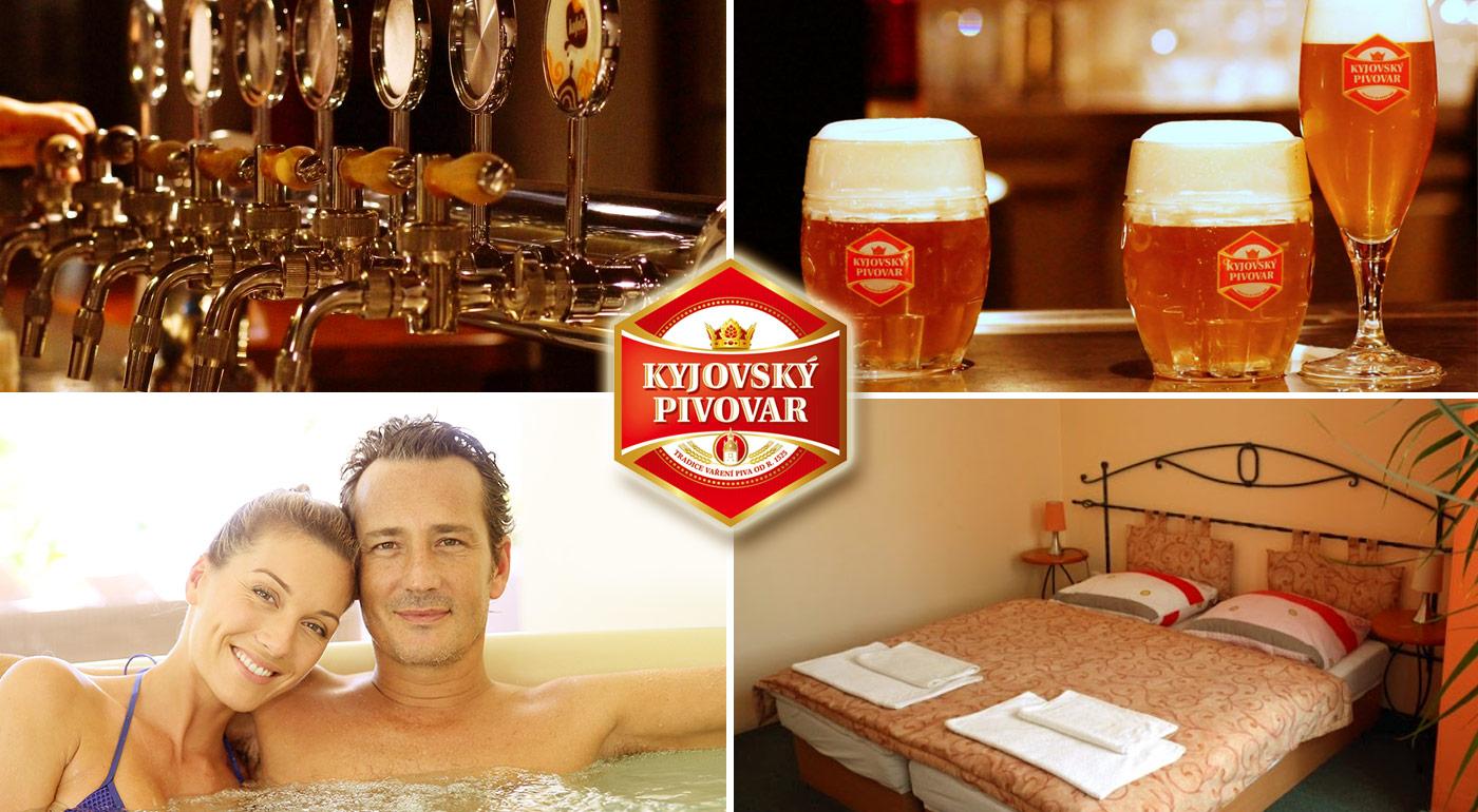 Pivo na všetky spôsoby - Kyjovský pivovar s polpenziou, neobmedzenou konzumáciou piva, chmeľovým kúpeľom i prehliadkou pivovaru