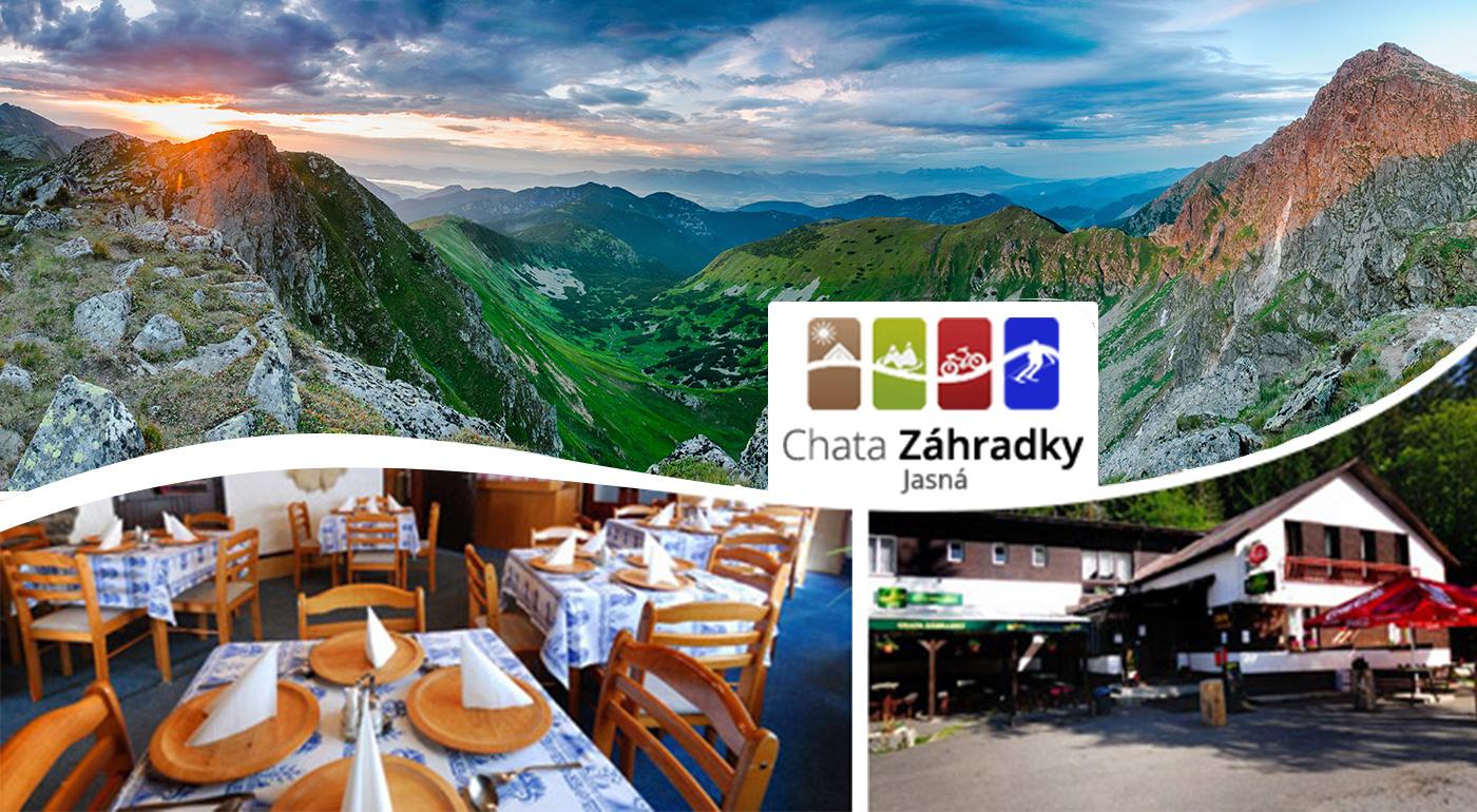 Chata Záhradky v Jasnej - horský pobyt s nádychom nostalgie v krásnej prírode Demänovskej doliny v Nízkych Tatrách