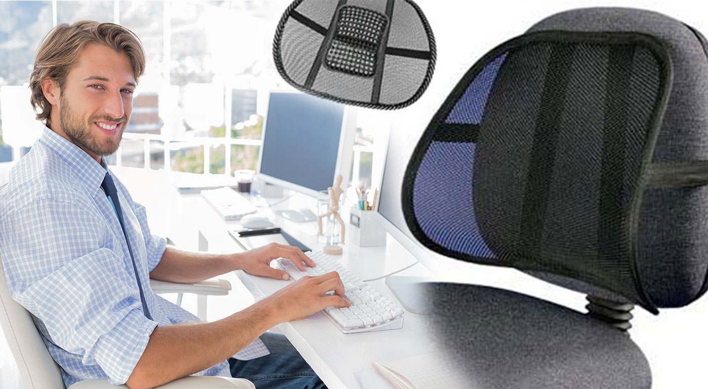 Ergonomická opierka chrbta - spríjemnite si dlhé sedenie na kancelárskych stoličkách!