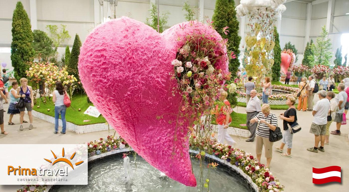 Očarujúca výstava kvetov a záhrad v rakúskom mestečku Tulln
