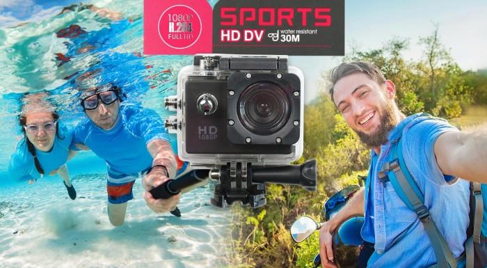 Fotka zľavy: Adrenalínová HD širokouhlá vodotesná kamera