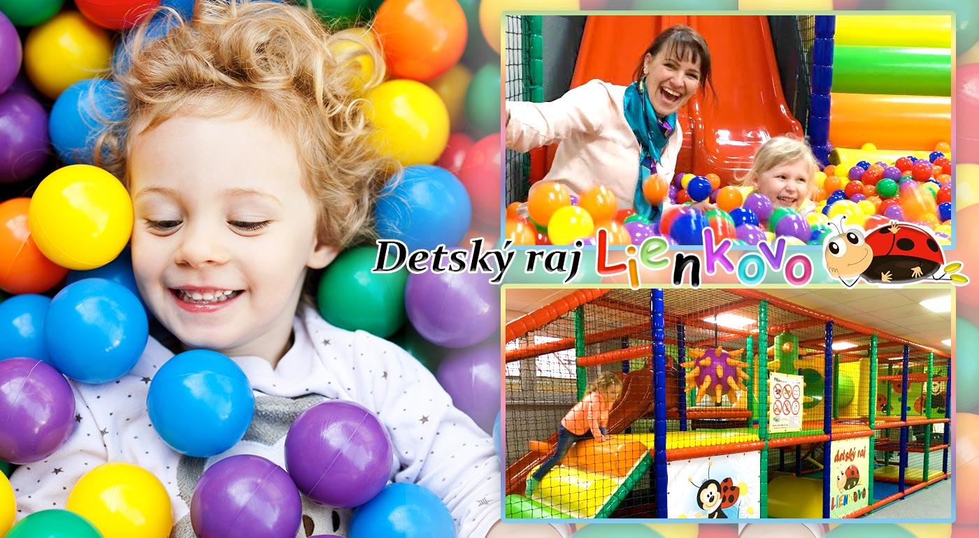 2 hodiny plné hier a zábavy pre vaše deti v detskom raji v Poprade