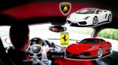 Zľava 68%: Dupnite na pedál, prevetrajte sa a skroťte divoké kone pod kapotou luxusných športových áut Ferrari a Lamborghini. Pekelná jazda ako z filmu Rýchlo a zbesilo.