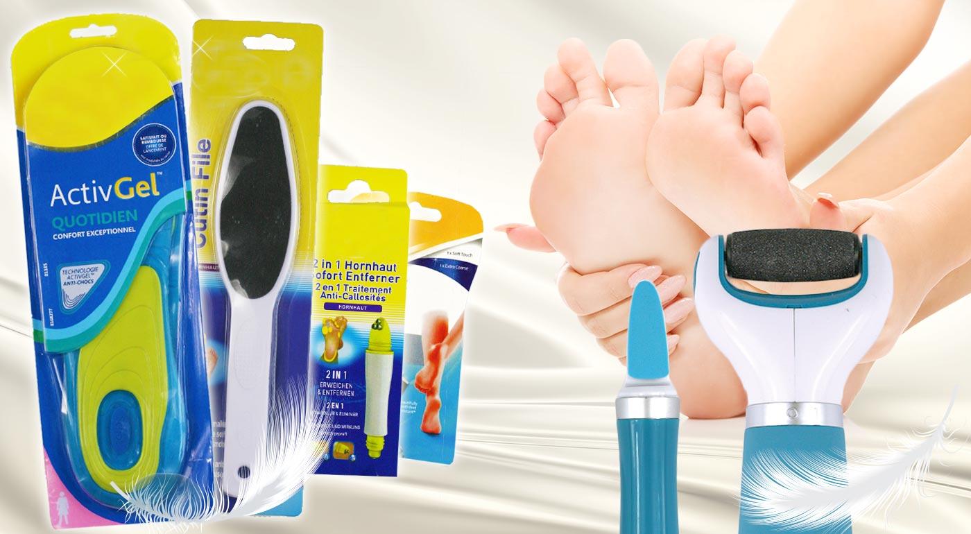 Pomôcky pre profesionálnu starostlivosť o vaše chodidlá