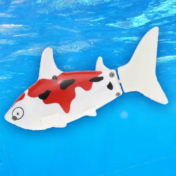 Robotická ryba - farba bielo-červená