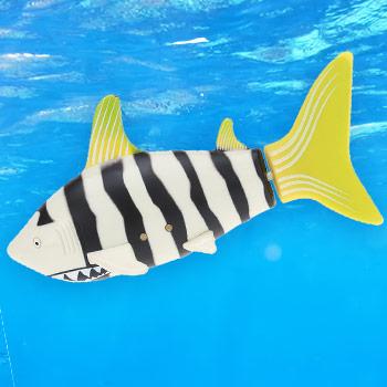 Robotická ryba - farba čierno-žltá s pásikmi