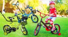 Zľava 43%: Nič lepšie ako rodinný výlet na bicykloch asi ani neexistuje! Potešte vaše deti a doprajte im ešte väčší zážitok z jazdy na úplne novom, kompletne vybavenom bicykli s príslušenstvom!