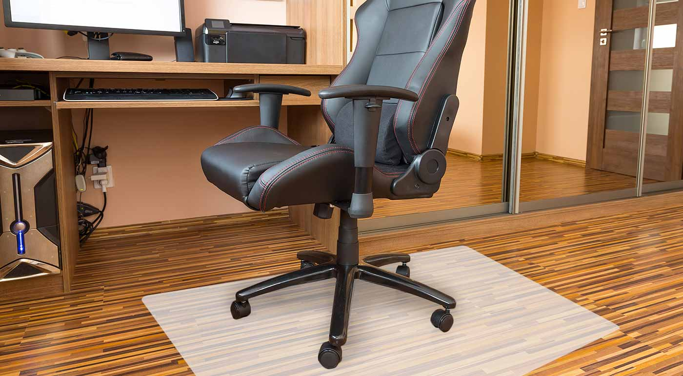 Ochranná PVC podložka pod kancelársku stoličku - zabráňte vzniku škrabancov a šmúh