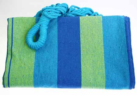 Hojdacia sieť pre dvoch - farba modrozelená