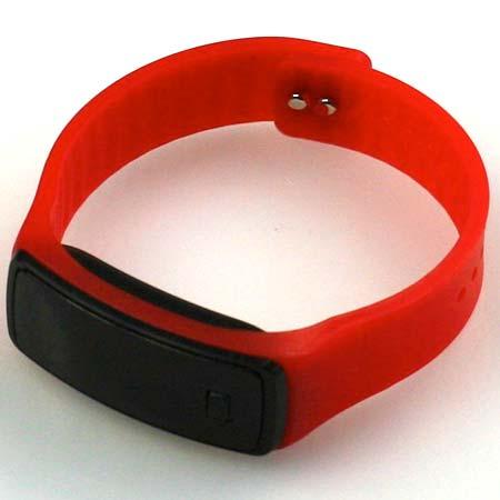 Silikónové hodinky s LED displejom - farba červená
