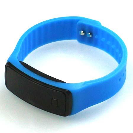 Silikónové hodinky s LED displejom - farba modrá
