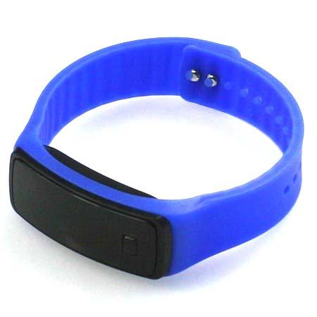 Silikónové hodinky s LED displejom - farba tmavomodrá