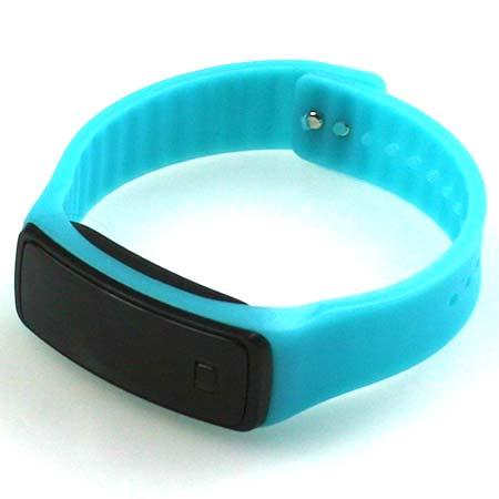 Silikónové hodinky s LED displejom - farba smaragdová