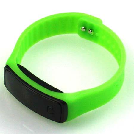 Silikónové hodinky s LED displejom - farba svetlozelená