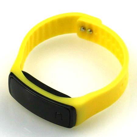 Silikónové hodinky s LED displejom - farba žltá
