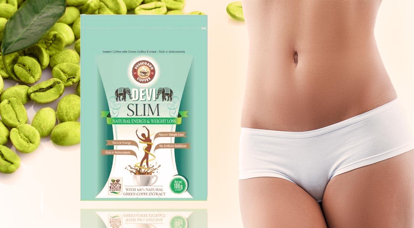Instantná zelená káva Devi Slim z Indie - získajte štíhlu líniu bez námahy