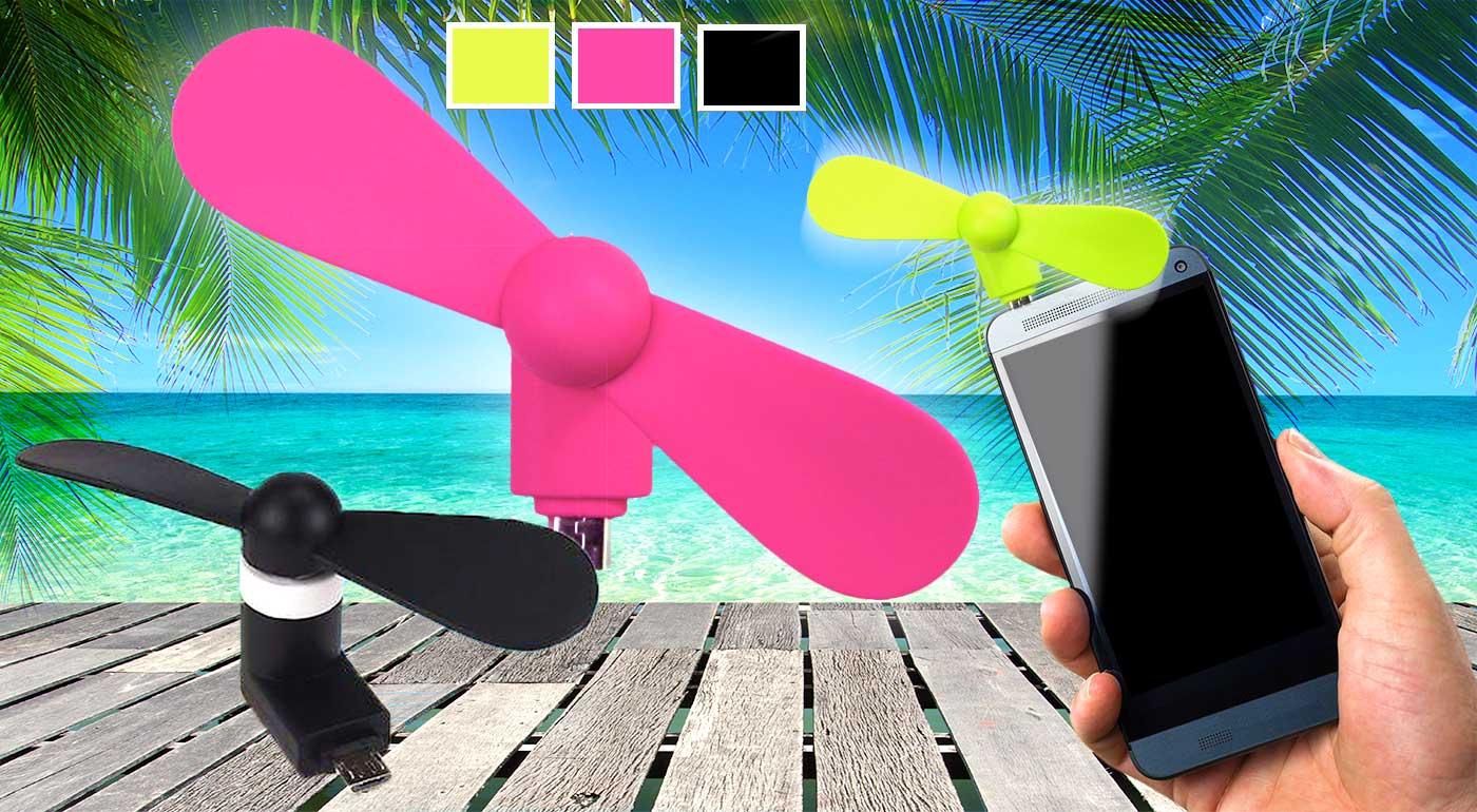 Praktický ventilátor, ktorý pripojíte k vášmu mobilu