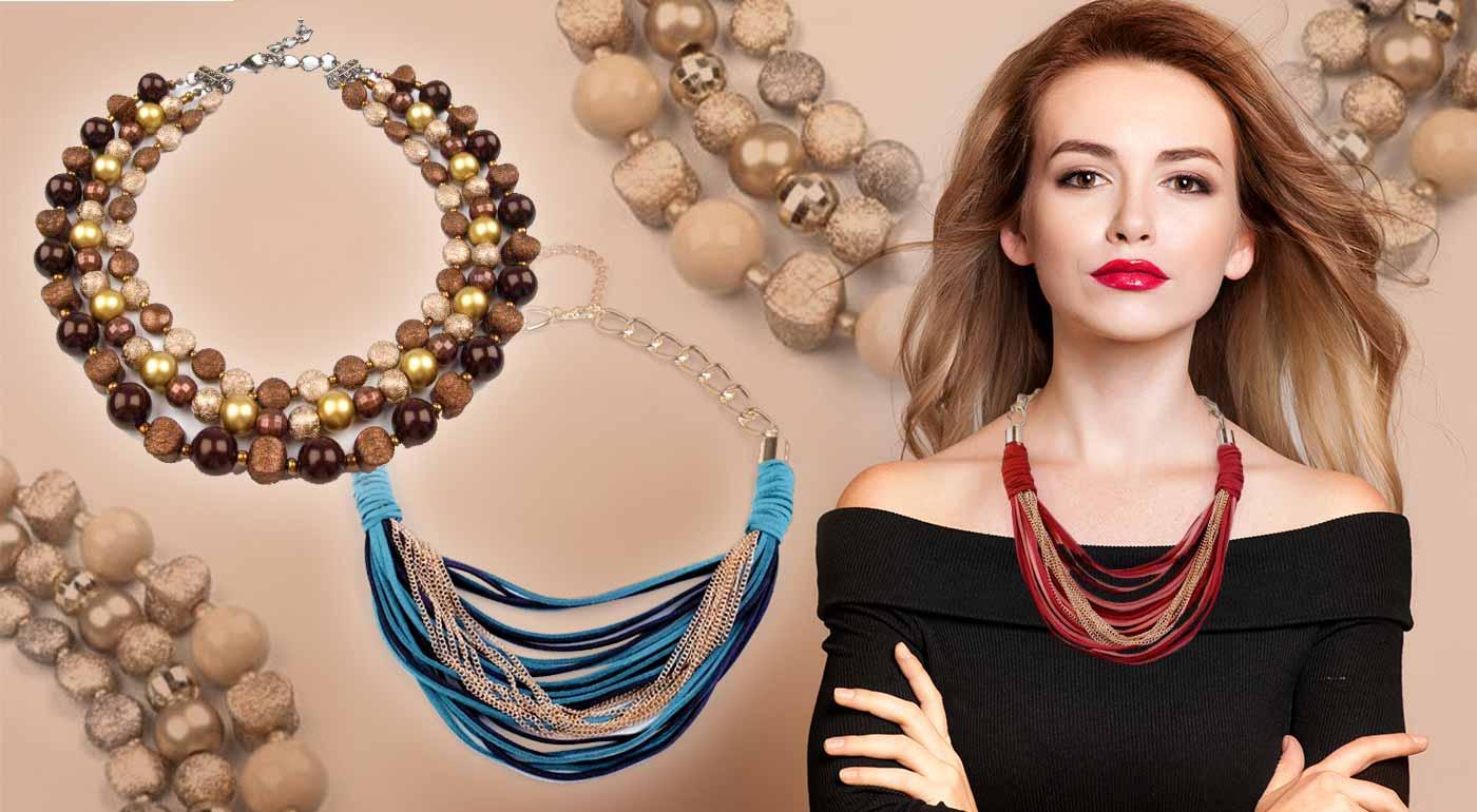Efektný a honosný náhrdelník pre ženu s fantáziou - vyberte si zo šik trendových farieb na toto leto