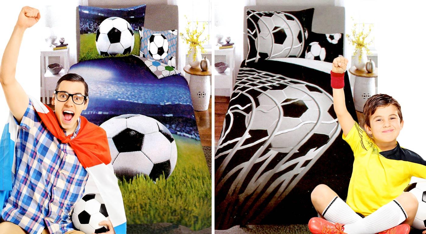 Bavlnené obliečky s 3D vzorom pre všetkých futbalových fanúšikov