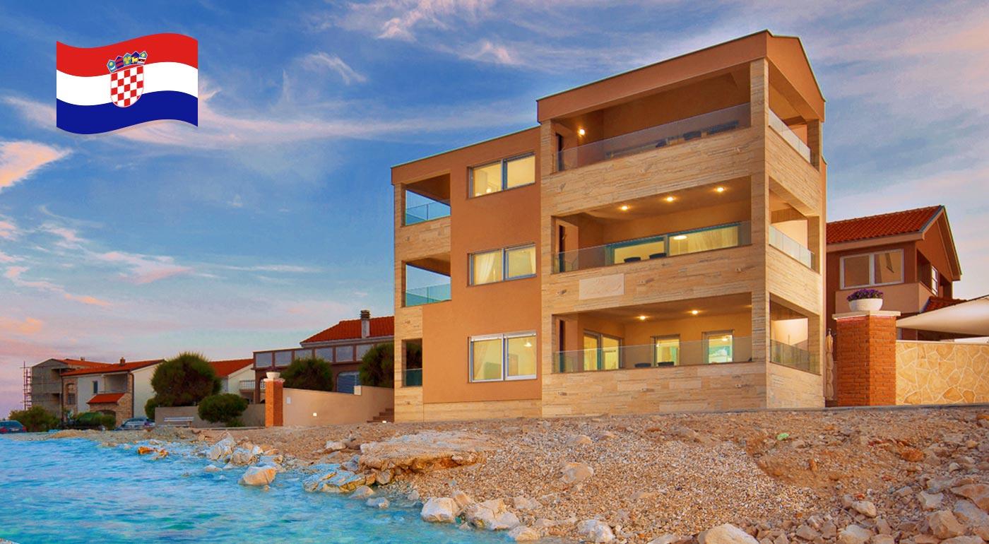 Nádherná dovolenka v luxusných apartmánoch na ostrove Vir pre 2, 4 alebo 6 osôb