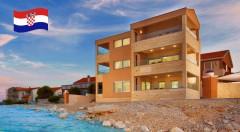 Zľava 15%: Prežite letnú dovolenku snov v moderne zariadených apartmánoch na ostrove Vir s terasou s priamym výhľadom na more. Navštívte pohodové Chorvátsko a vyberte si dĺžku pobytu aká vám vyhovuje.