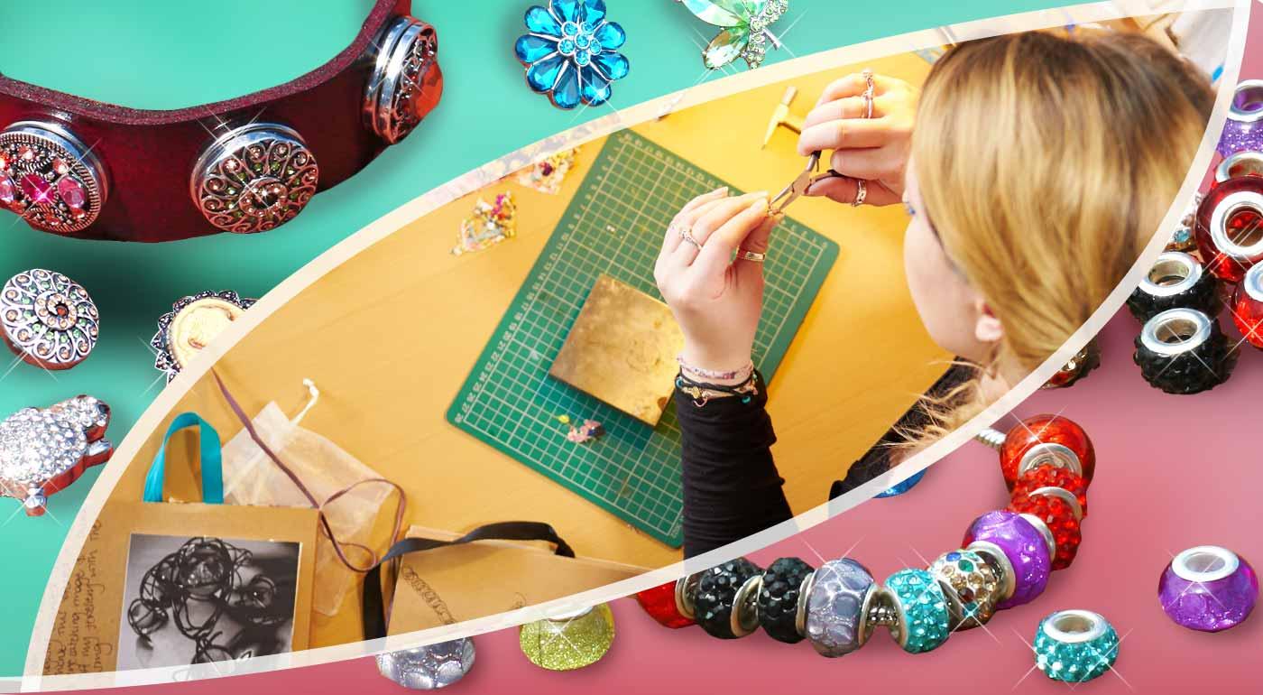 Vytvorte si svoj originálny letný náramok ozdobený pestrými cvočkami alebo korálkami trblietajúcimi sa na slnku