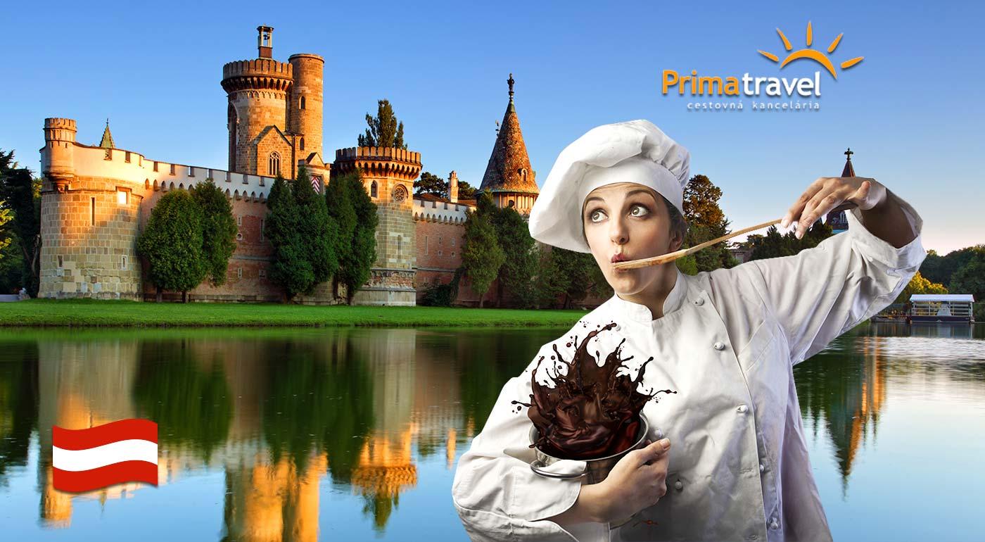 Nadýchajte sa sladkej čokolády v rakúskej fabrike Hauswirth a nostalgickej histórie v zámku cisárovnej Sissi v Laxenburgu