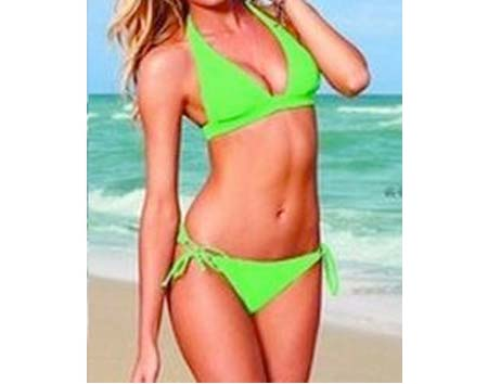 Dámske plavky Simply univerzálna veľkosť - farba zelená
