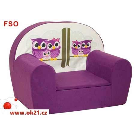 Rozkladacie malé kreslo pre deti - vzor FSO