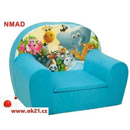 Rozkladacie malé kreslo pre deti - vzor NMAD