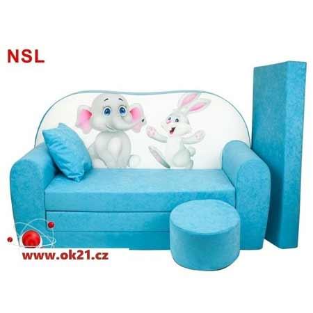Rozkladacie veľké kreslo pre deti - vzor NSL