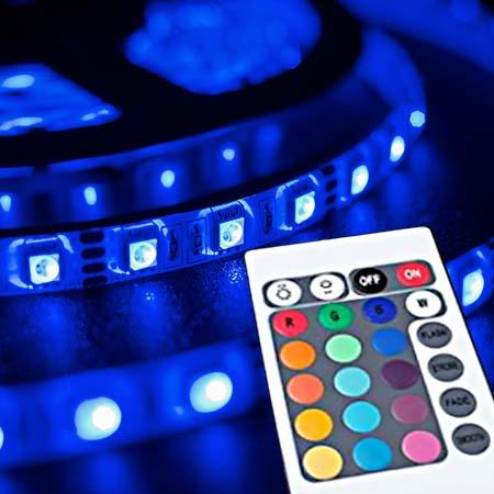 Farebný 5-metrový LED pás s diaľkovým ovládaním