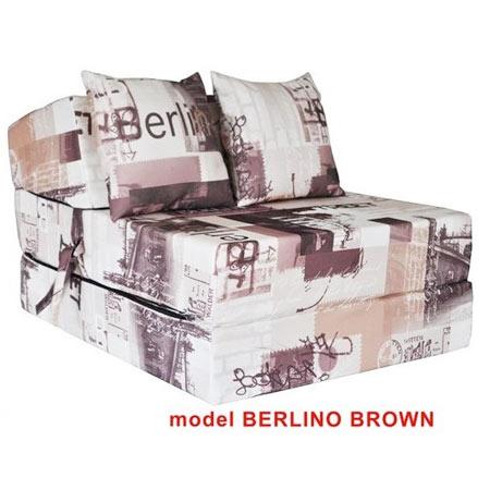 Rozkladacie kreslo s potlačou - model Berlino Brown