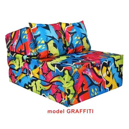 Rozkladacie kreslo s potlačou - model Graffiti