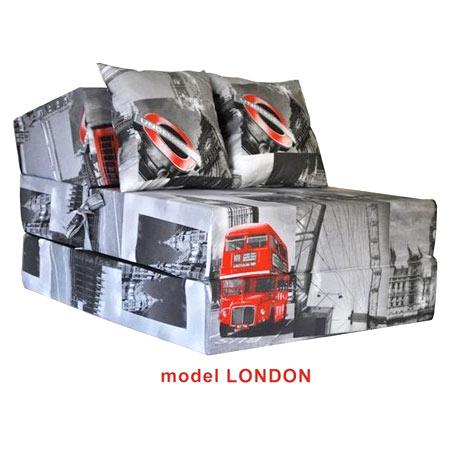 Rozkladacie kreslo s potlačou - model London