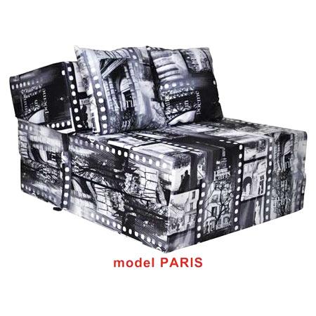 Rozkladacie kreslo s potlačou - model Paris