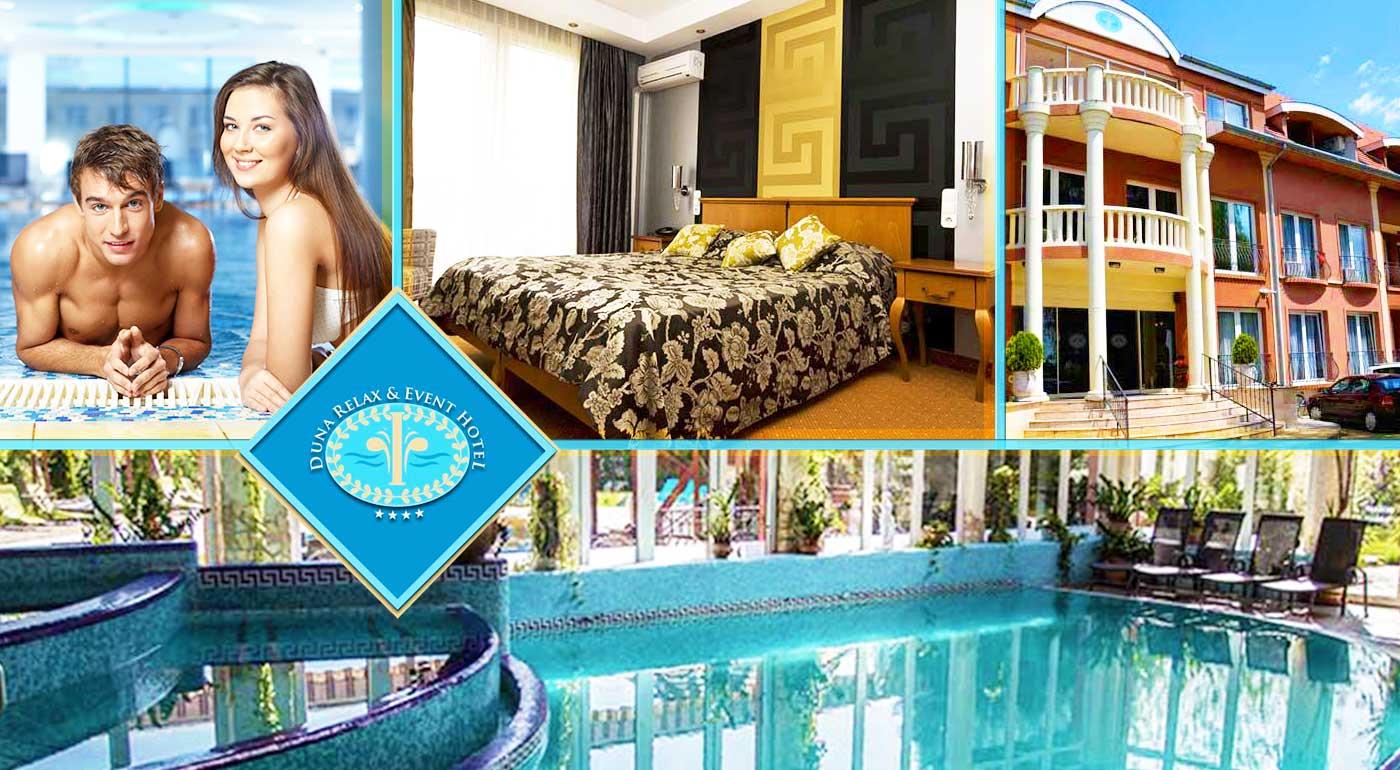 Bezkonkurenčná romantika v starorímskom wellness a v luxuse izieb Duna Relax & Event Hotela****
