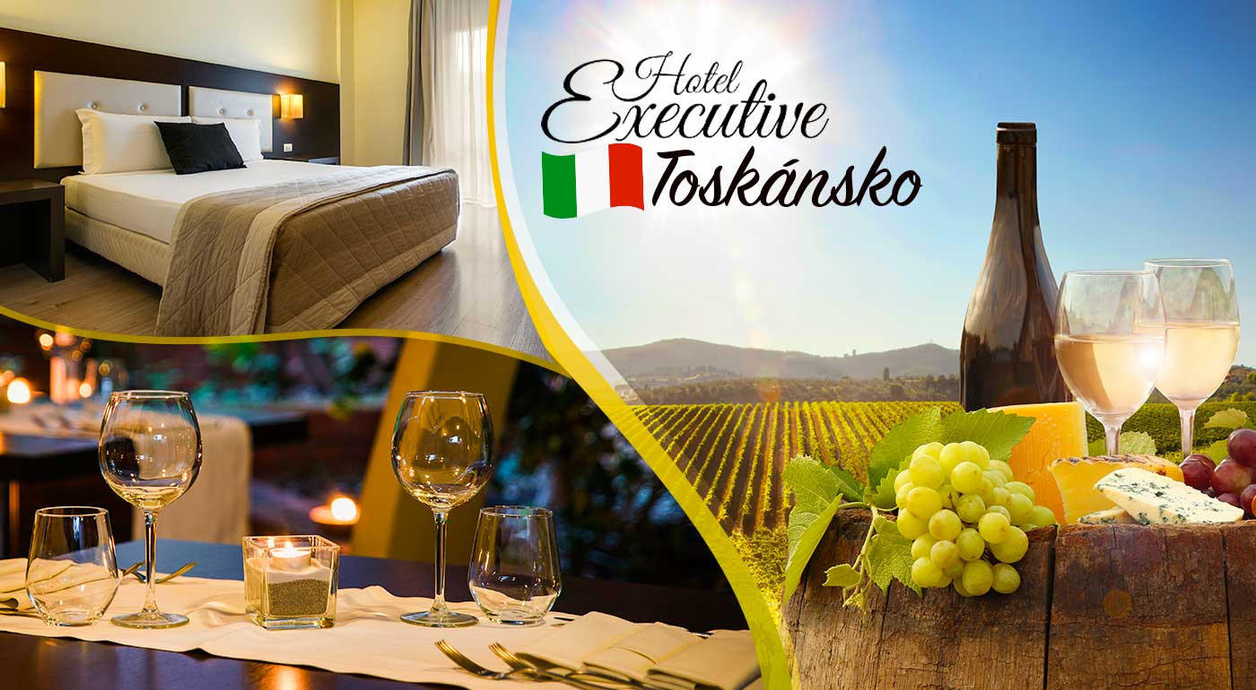 Navštívte podmanivé Toskánsko - 3 alebo 5 nocí s polpenziou v Hoteli Executive v meste Siena