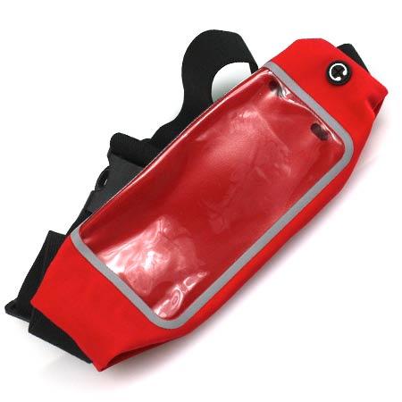 Športové puzdro na mobil a drobnosti - farba červená