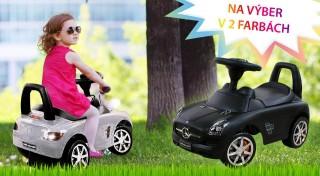 Zľava 12%: Nechajte vášho malého drobca brázdiť ulice na Mercedese. Potešte vaše deti a sprostredkujte im zážitok z jazdy na úplne novom luxusnom odrážadle v dvoch farbách.