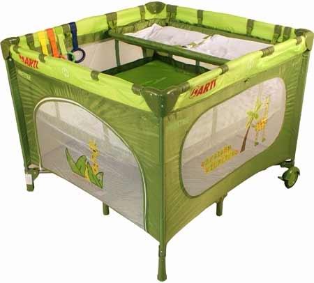 Detská ohrádka Arti LuxuryGo Green Giraffe + prebaľovací pult + možnosť polohovania matraca