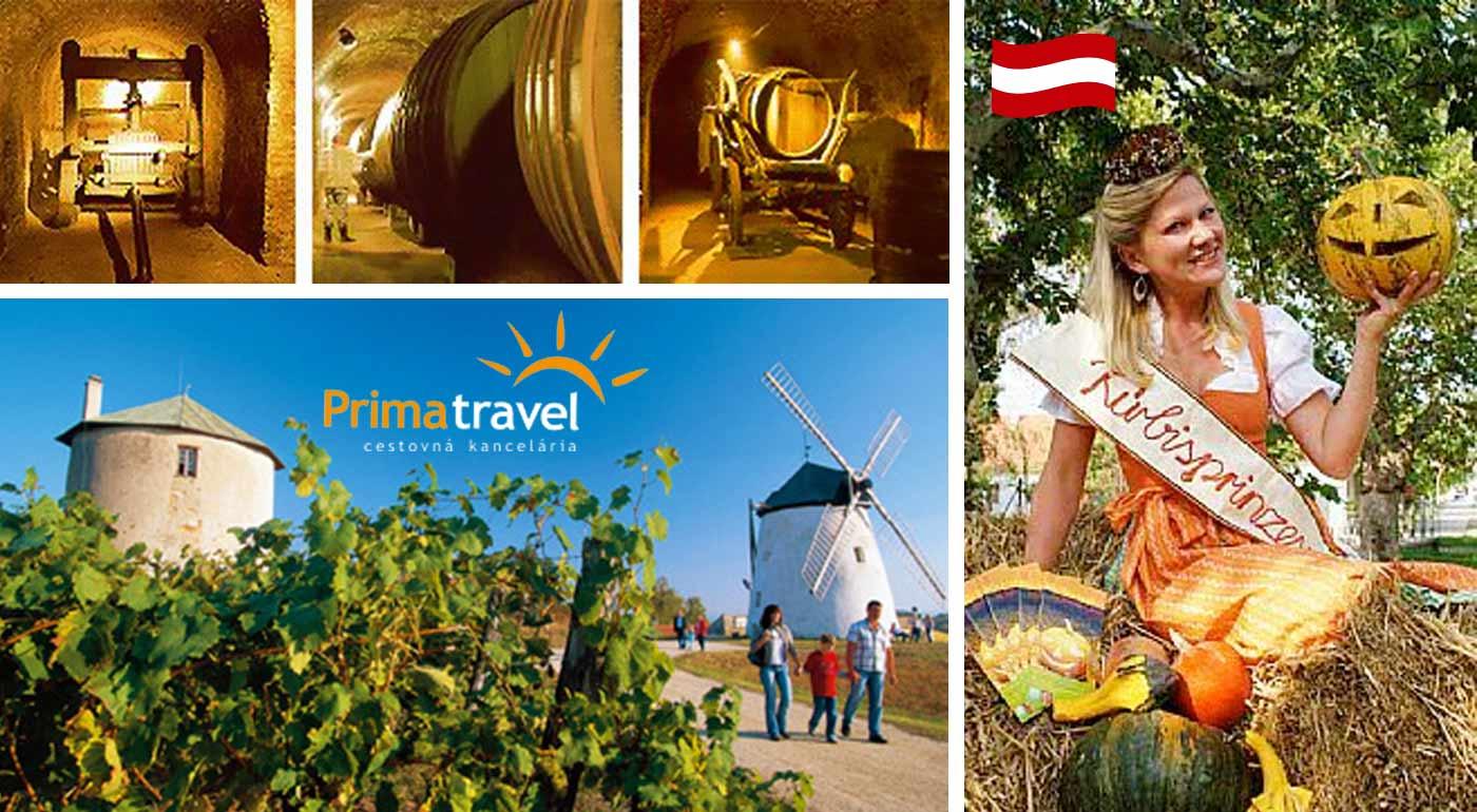 Veselý jednodňový zájazd do Rakúska na tradičné tekvicové slávnosti s návštevou vínnej pivnice