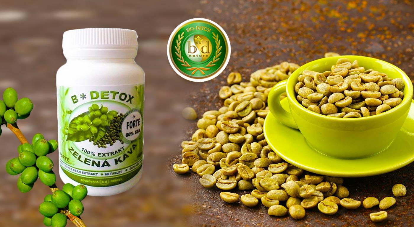 Zelená káva Green Coffee Forte 6000 plná antioxidantov v tabletkách