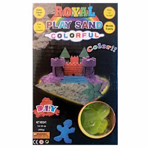 Magický piesok - malá sada na modelovanie za 4,99 €: 400 gramov piesku (1 vrecko - farba fialová) a 8 formičiek